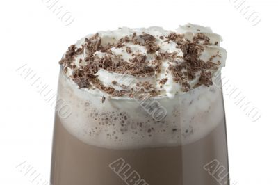 delicious glass of chocolate milk drink