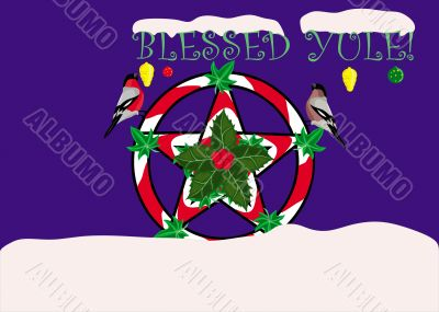 Yule greeting card