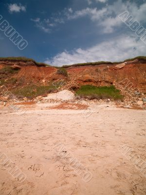 view of cliff at beach