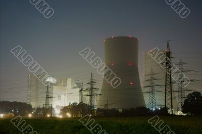 Nuclear Plant Hamm - Germany - at Night