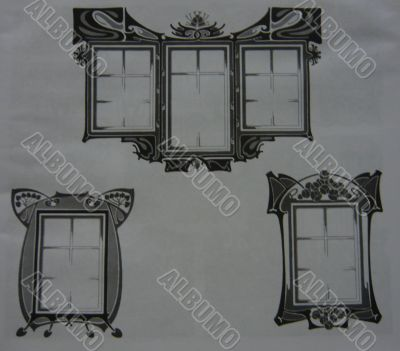 Ornament in form of windows.