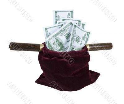 Velvet Offering Bag Full of Money