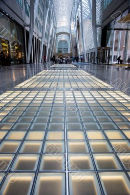 view of glass floor and and steel structure