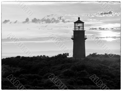 silhouette of watch tower