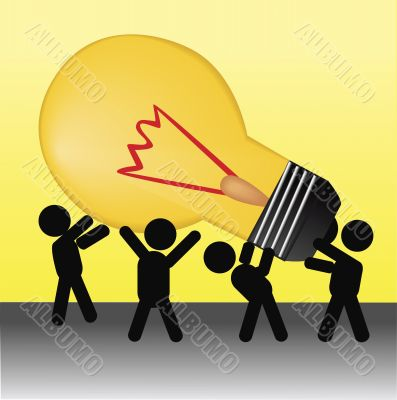people holding idea bulb