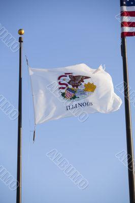 pole of illinois flag
