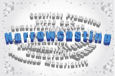 image of word narrowcasting