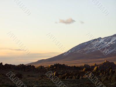 stone desert sunset