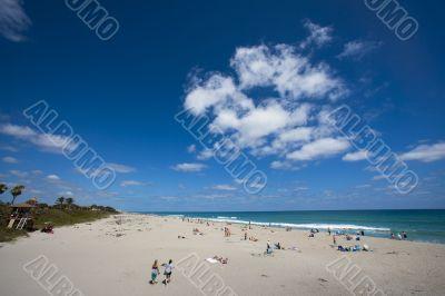 Wide Shot of Beach
