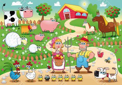 Funny farm family.