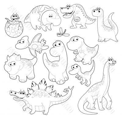Dinosaurs Family.