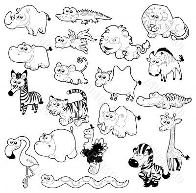 Savannah animal family.