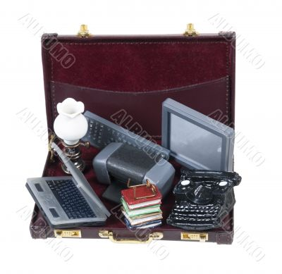Old Technology in Briefcase