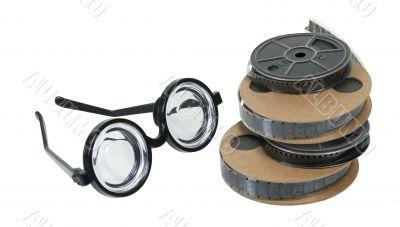 Nerd Glasses and Movie Reels