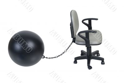 Office Chair with Large Ball and Chain