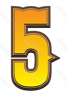 Western alphabet number  - 5