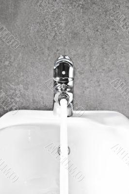Bidet faucet water front