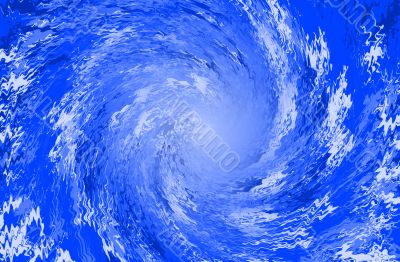 Blue abstract background spiral