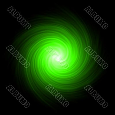 Green abstract background spiral