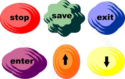 buttons for website, computer games, children