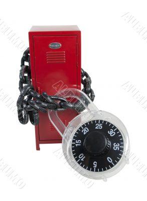 Locker Bound by Padlock and Chain