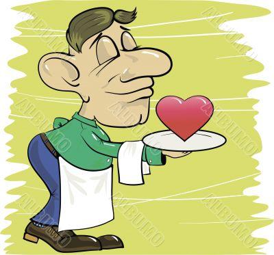 waiter and heart