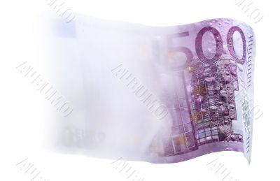 500-euro notes lost in the water and in the mist