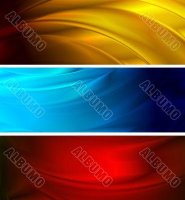 Simple wavy banners (NO gradient mesh)