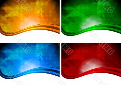 Four beautiful vibrant backdrops
