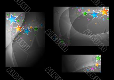 Abstract backgrounds and banner