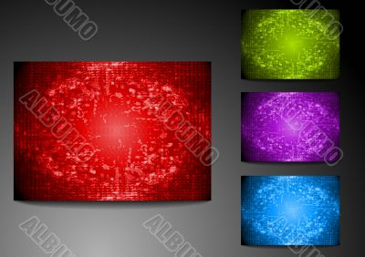 Set of grunge bright backdrops