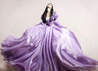 A girl in a fairy dress