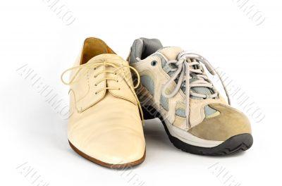 Mirror image of sneakers