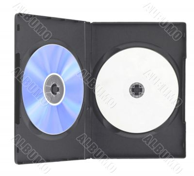 Blank DVD case and disc i