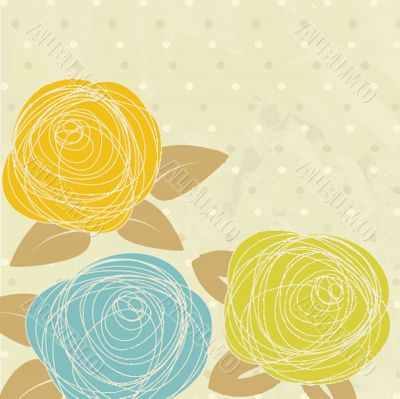 Abstract rose flower. Vector illustration