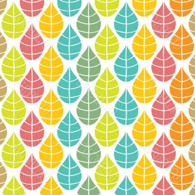 Seamless pattern with multicolored leaves.