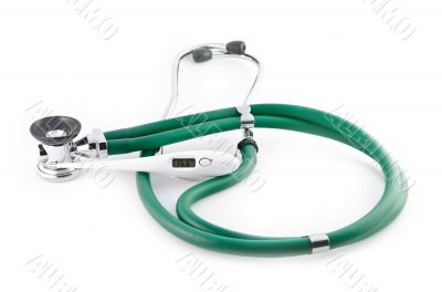 Stethoscope and thermometer 36,6