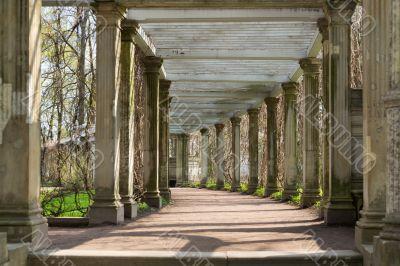 antique columns corridor