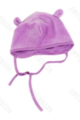 Children`s hat with strings
