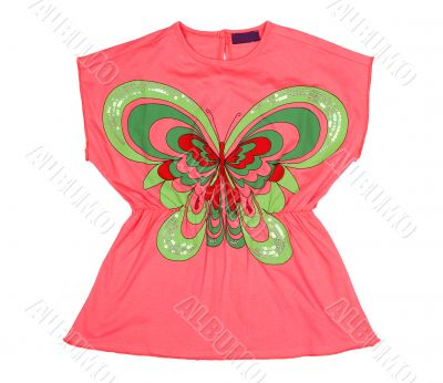Pink tunic with applique