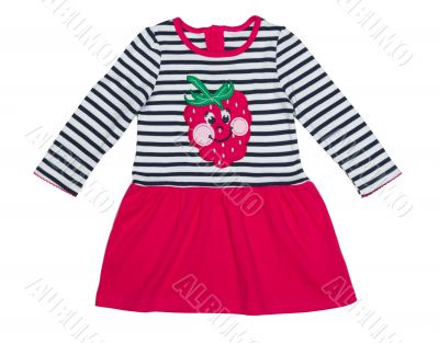 Close-up of a baby dress