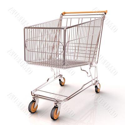 Shopping cart isolated