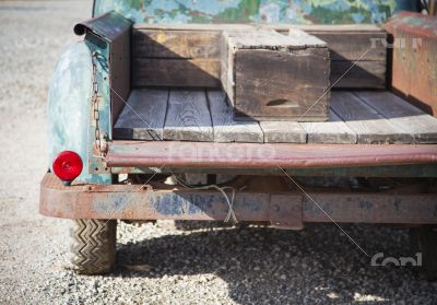 Old Rusty Antique Truck Abstract in a Rustic Outdoor Setting