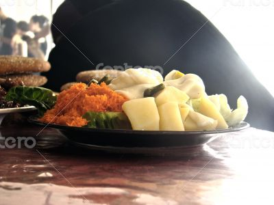 boiled potatoes with Mayonnaise
