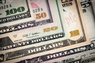 United States dollars closeup.