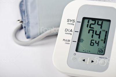 Closeup of Digital Blood Pressure Monitor