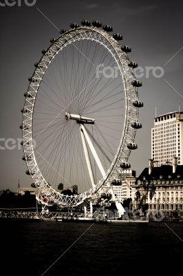 London Eye by the River Thames