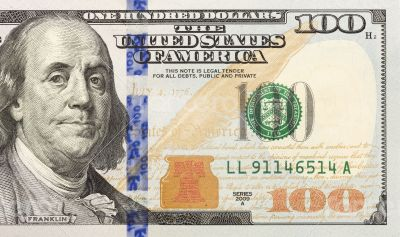 Right Half of the New One Hundred Dollar Bill