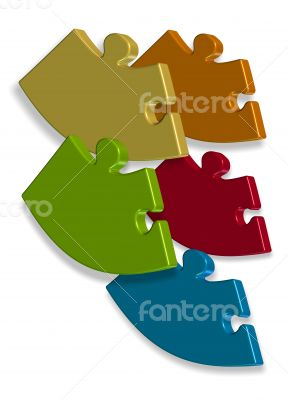 Puzzle  logo business illustration idea