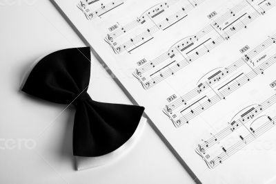 Black bow and note book